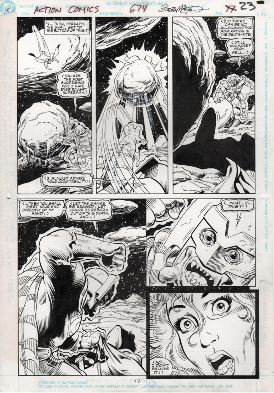 Original Art Page - Action Comics - 674 pg17