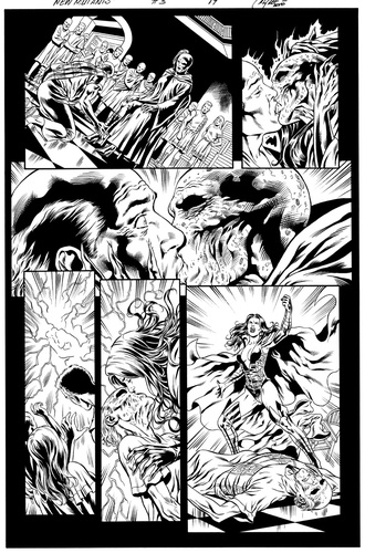 Original Art Page - The New Mutants Forever - 3 pg19