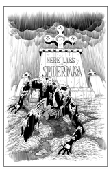 Web of Spider-Man - BW Print