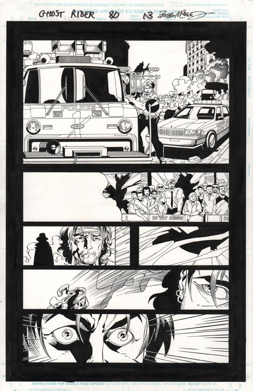 Original Art Page - Ghost Rider - 80 pg13
