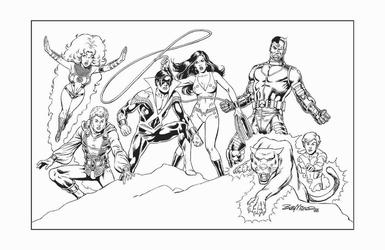 Teen Titans - BW Print