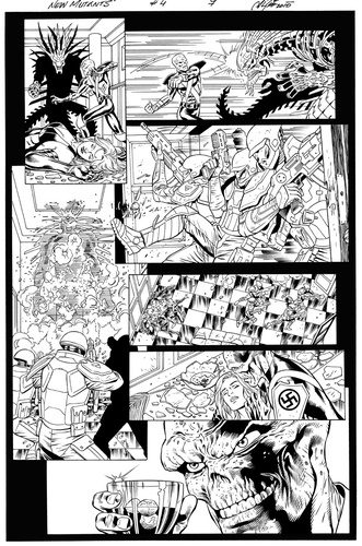 Original Art Page - The New Mutants Forever - 4 pg07