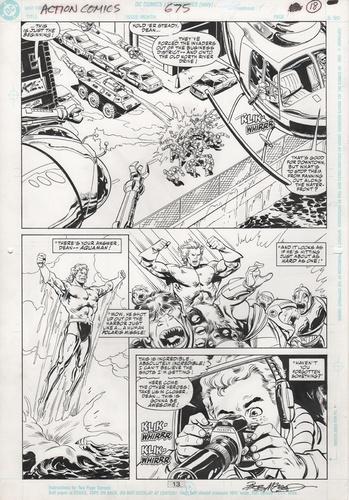 Original Art Page - Action Comics - 675 pg13