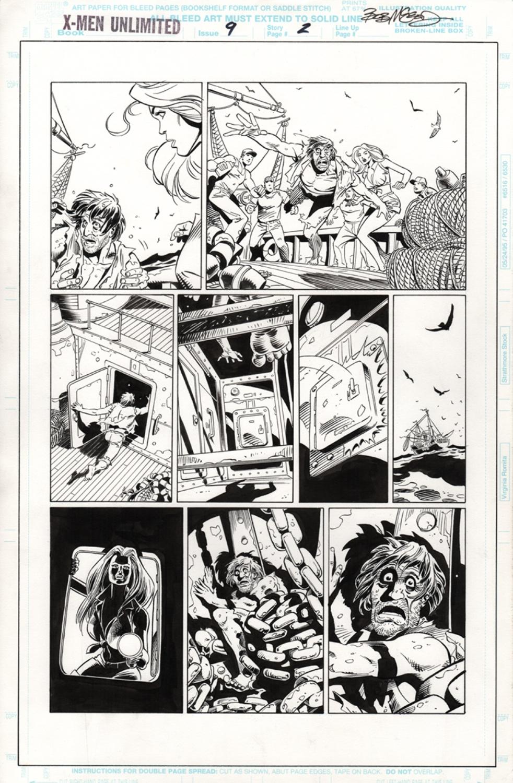 Original Art Page - X-Men Unlimited - 9 pg02