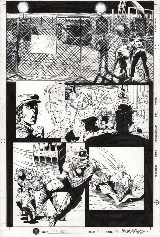 Original Art Page - Mr Hero - 2 pg21