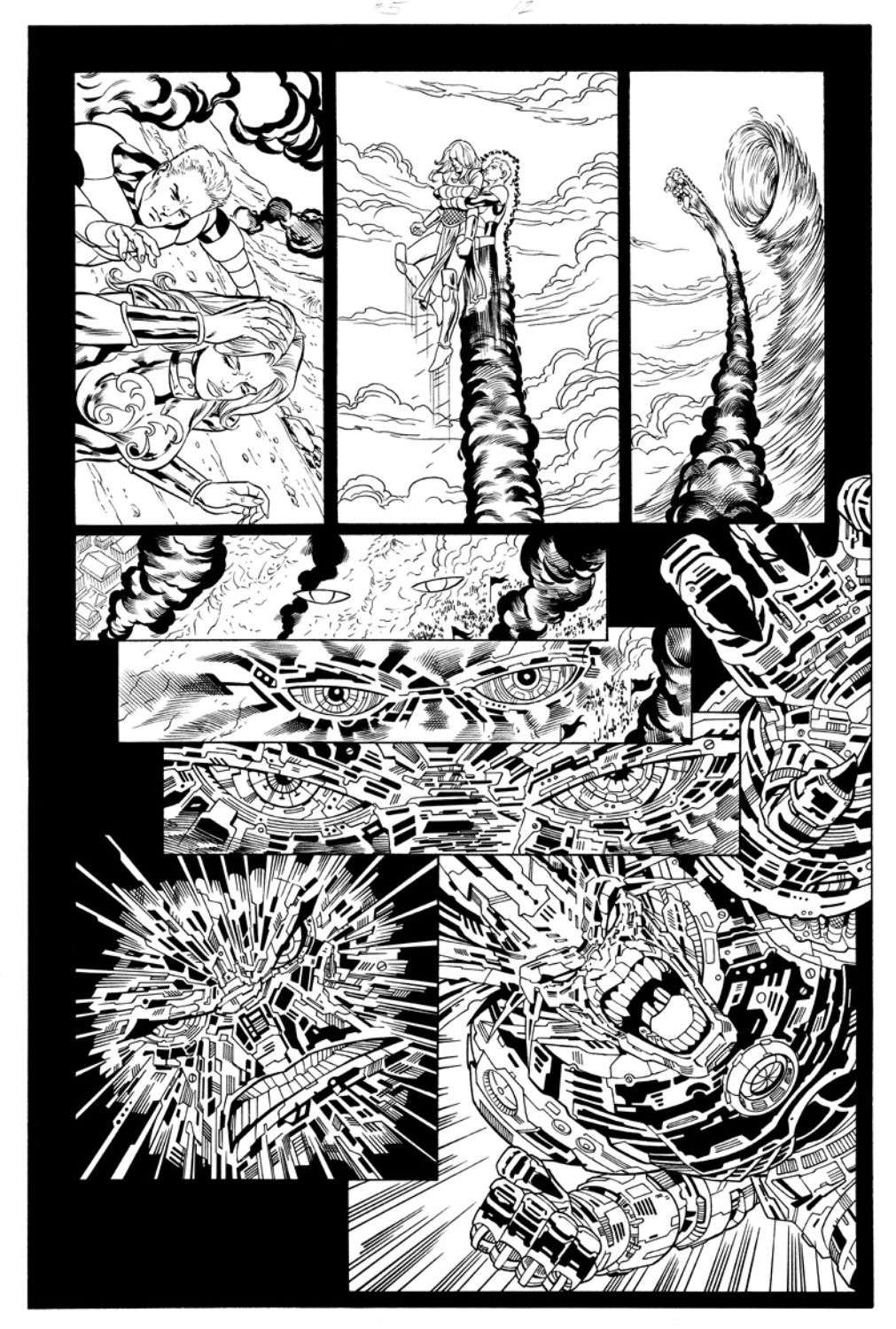 Original Art Page - The New Mutants Forever - 5 pg12