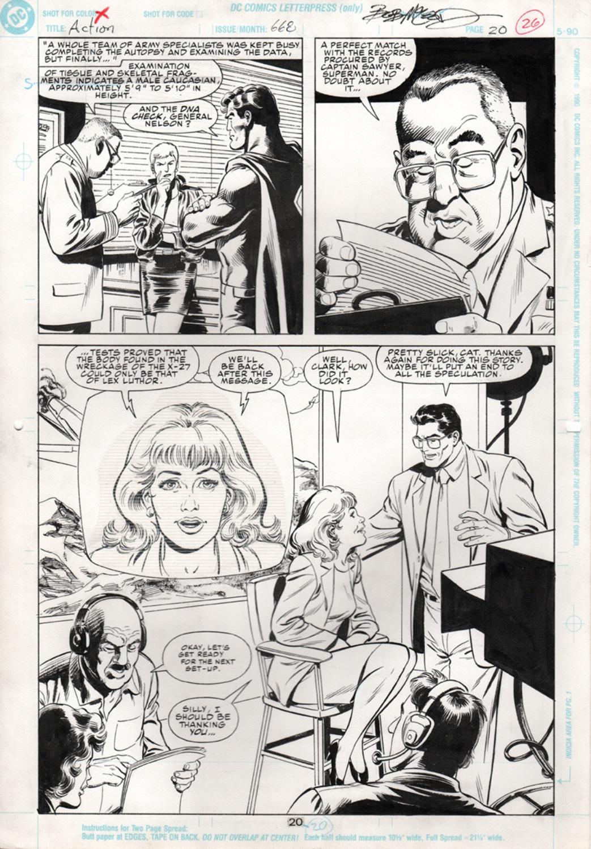 Original Art Page - Action Comics - 668 pg20