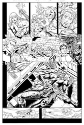 Original Art Page - The New Mutants Forever - 5 pg17