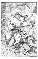 Hulk - BW Print