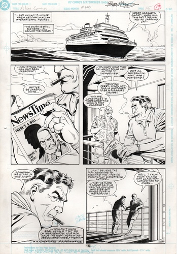Original Art Page - Action Comics - 668 pg15