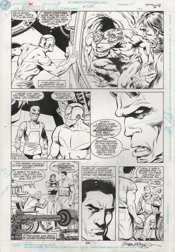 Original Art Page - Adventures of Superman - 480 pg24