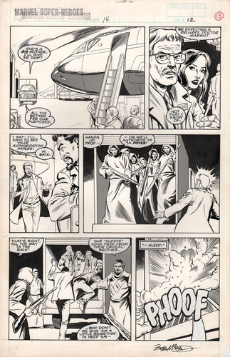Original Art Page - Marvel Super Heroes 14 Iron Man - 10 pg12