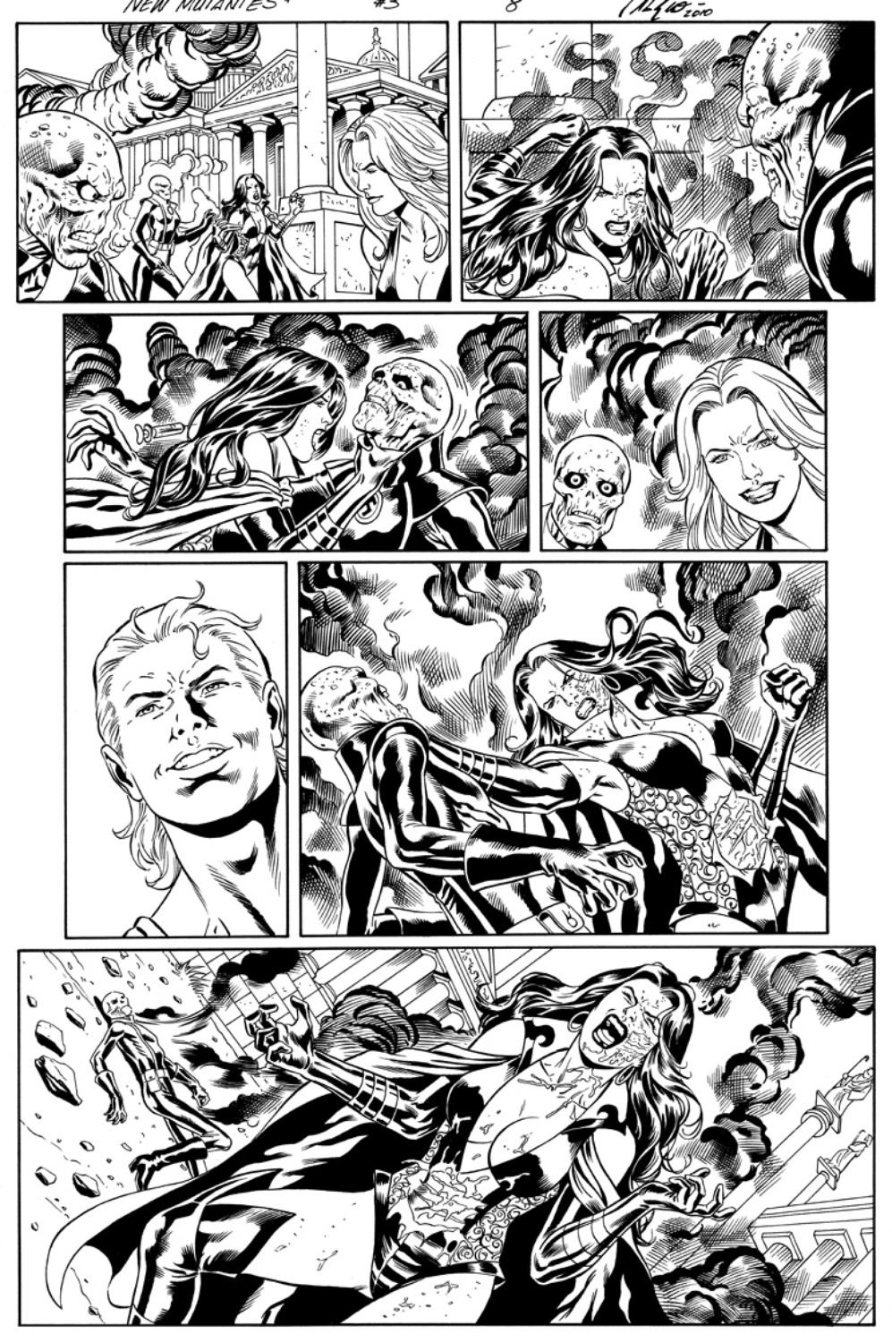 Original Art Page - The New Mutants Forever - 3 pg08