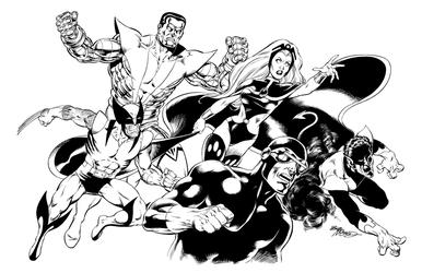 X-Men - BW Print1