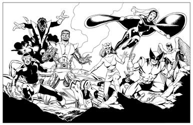 X-Men - BW Print2