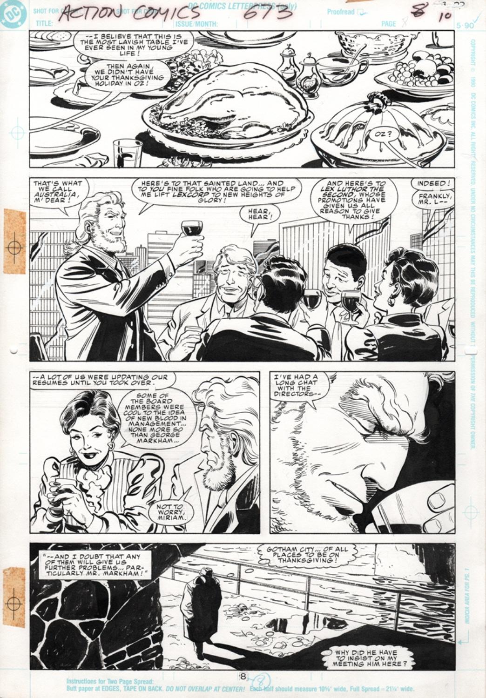 Original Art Page - Action Comics - 673 pg08