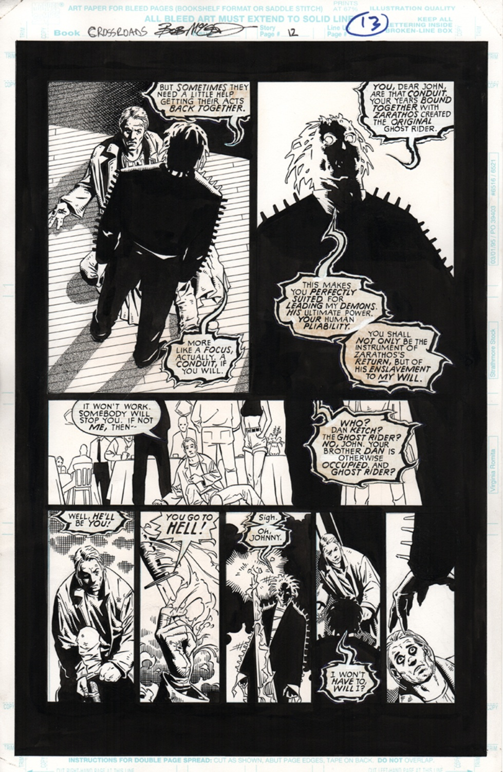 Original Art Page - Ghost Riders Crossroads - pg12