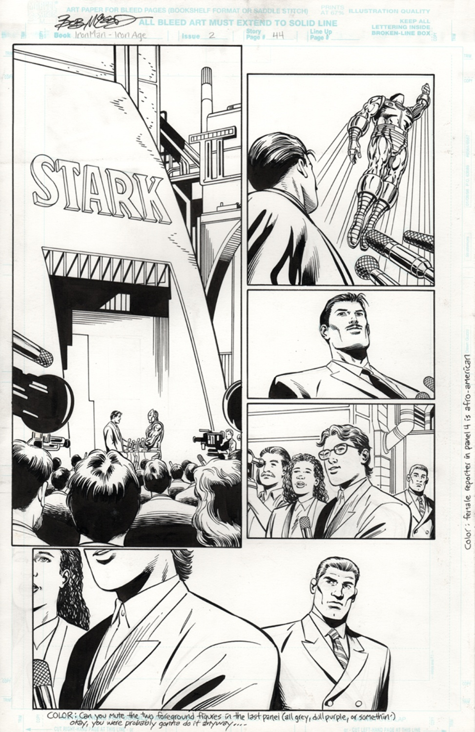 Original Art Page - Iron Man Bookshelf - 2 pg44