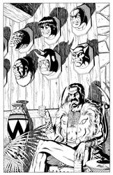 Kraven Mirror: Villains - BW Print