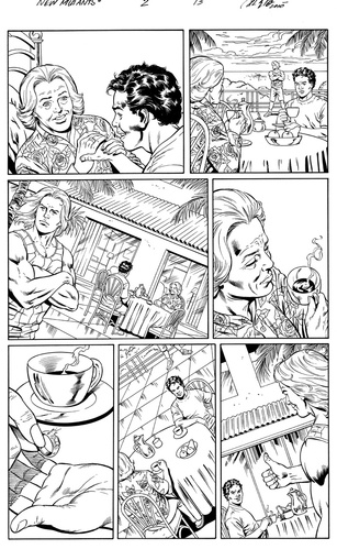Original Art Page - The New Mutants Forever - 2 pg13