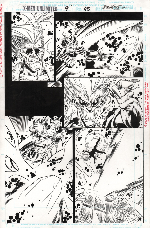 Original Art Page - X-Men Unlimited - 9 pg45