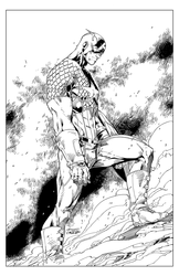 Captain America - BW Print