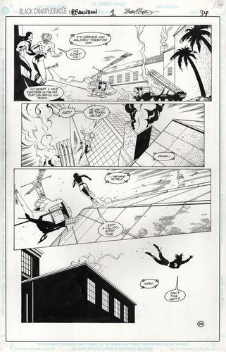 Original Art Page - Black Canary - 1 pg34