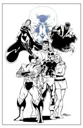 X-Men - BW Print4