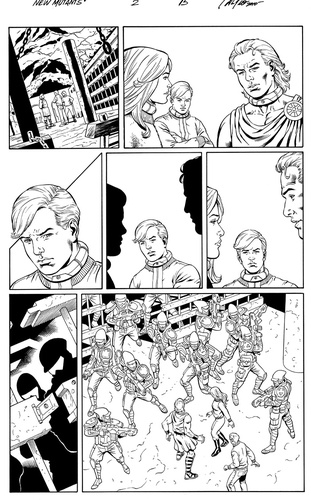 Original Art Page - The New Mutants Forever - 2 pg15