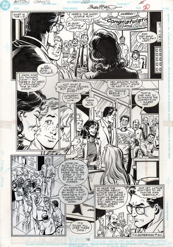 Original Art Page - Action Comics - 660 pg16
