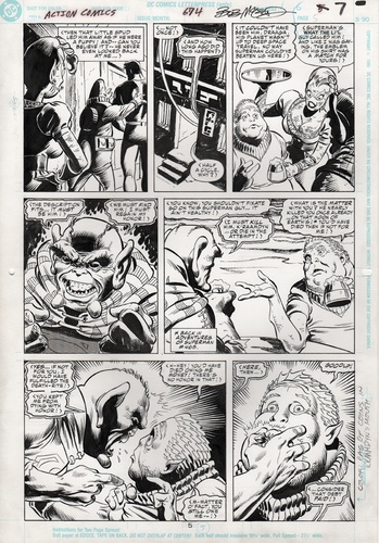 Original Art Page - Action Comics - 674 pg05