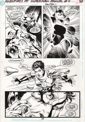 Original Art Page - Adventures of Superman - Annual 4 pg38
