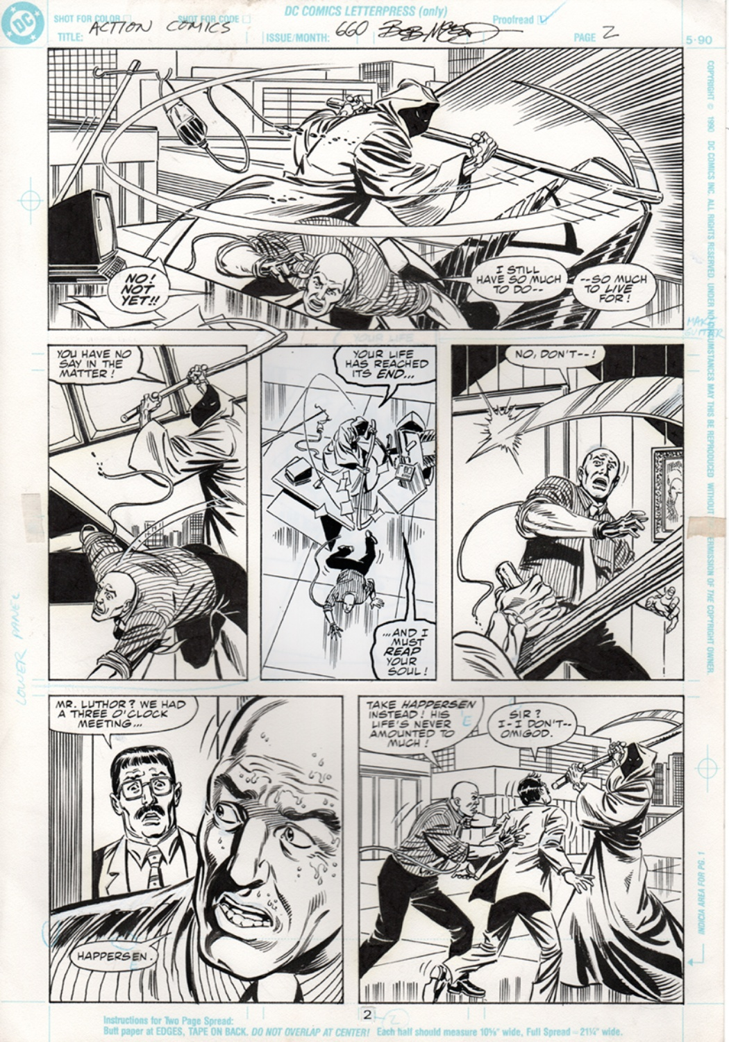 Original Art Page - Action Comics - 660 pg02