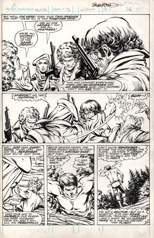 Original Art Page - Hulk - 13 pg20