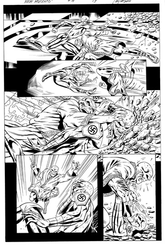 Original Art Page - The New Mutants Forever - 4 pg19