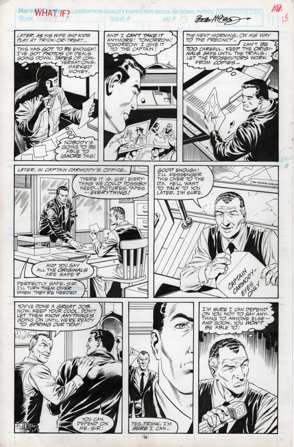 Original Art Page - What If: The Punisher's Family Hadn't Been Killed - 10 pg15
