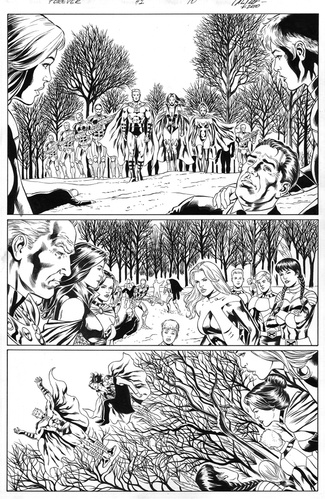 Original Art Page - The New Mutants Forever - 1 pg10