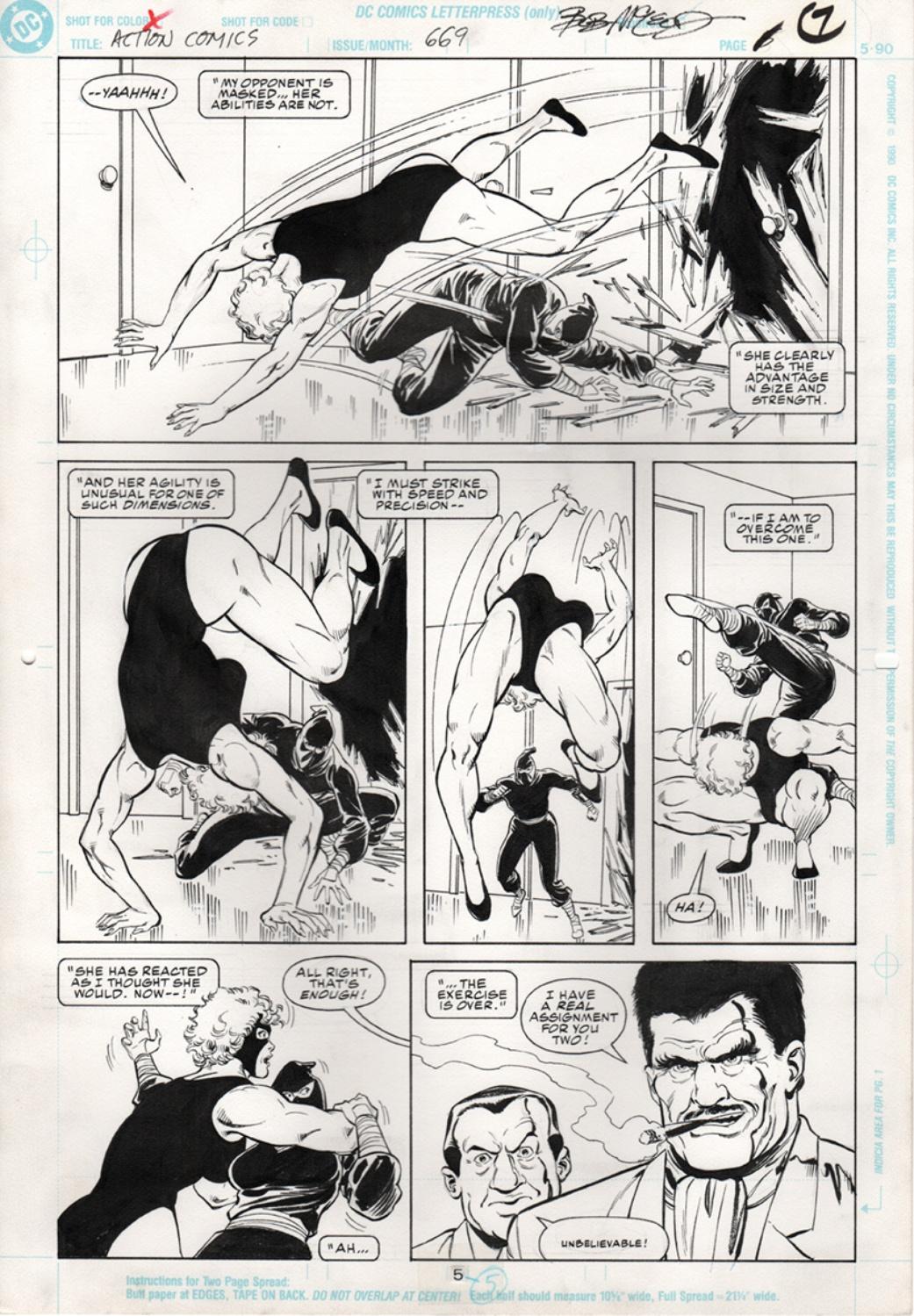Original Art Page - Action Comics - 669 pg05