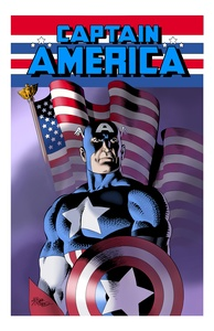 Captain America - Color Print