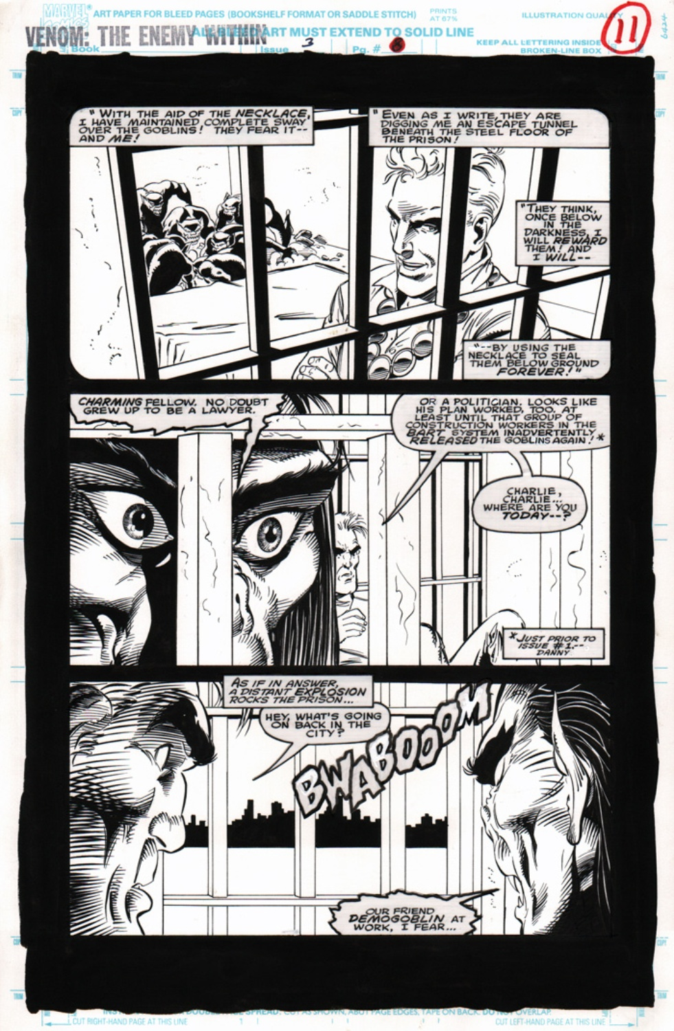 Original Art Page - Venom: The Enemy Within - 3 pg11