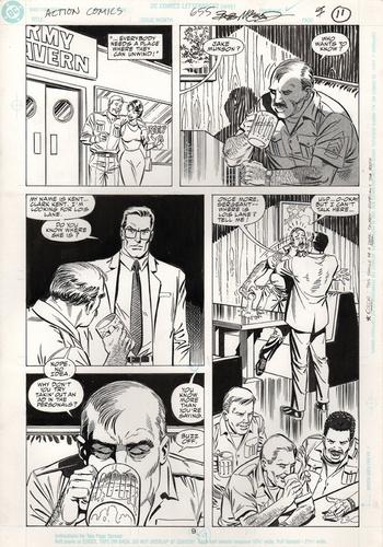 Original Art Page - Action Comics - 655 pg09
