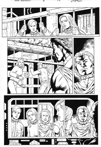 Original Art Page - The New Mutants Forever - 2 pg14