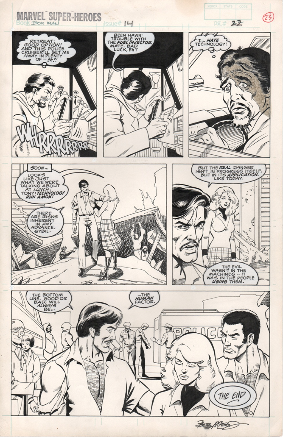 Original Art Page - Marvel Super Heroes 14 Iron Man - 10 pg22