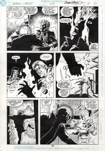 Original Art Page - Action Comics - 670 pg19