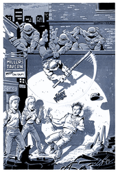Teenage Mutant Ninja Turtles - BW Print