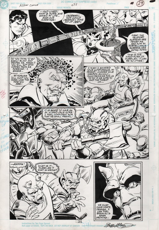 Original Art Page - Action Comics - 675 pg21