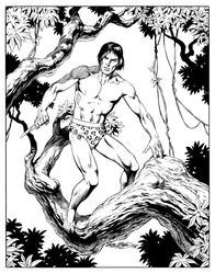 Tarzan - BW Print