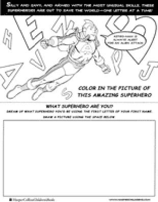 Astro Man coloring activity page