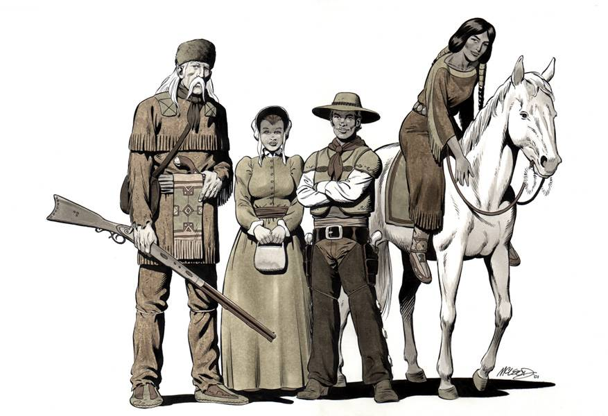 "New Mutants as a western (2001) 11"" x 17"""
