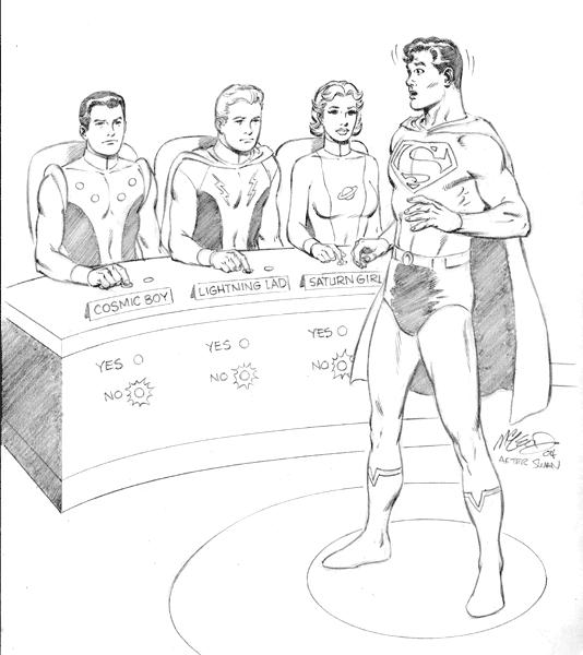"Adventure Comics #247 2004 reinterpretation (after Swan) 8 1/2"" x 11"""